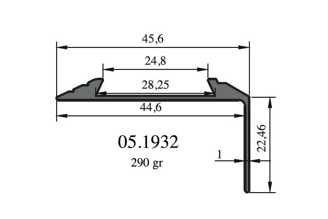 Dekorativní hliníkové profily