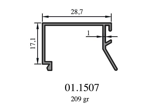Neizolované hliníkové profily