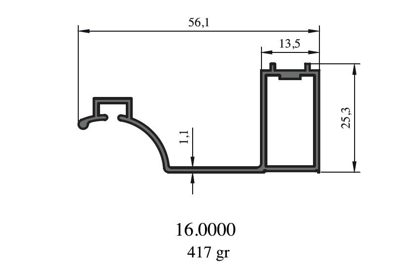 Profily pro sprchové kouty